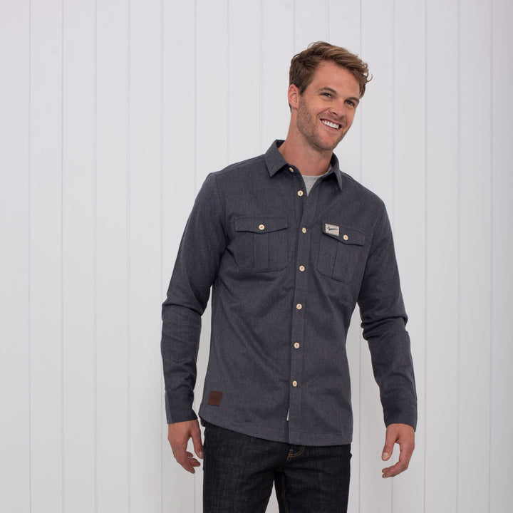 Brushed Flannel Overshirt