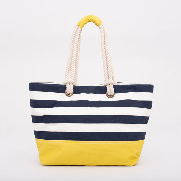 Block Stripe Beach Bag