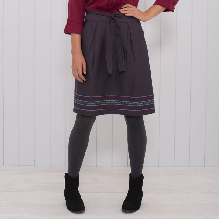 Twill Embroidered Skirt