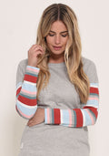 Stripe Sleeve Sweat