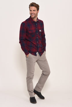 Flannel Check shirt Red