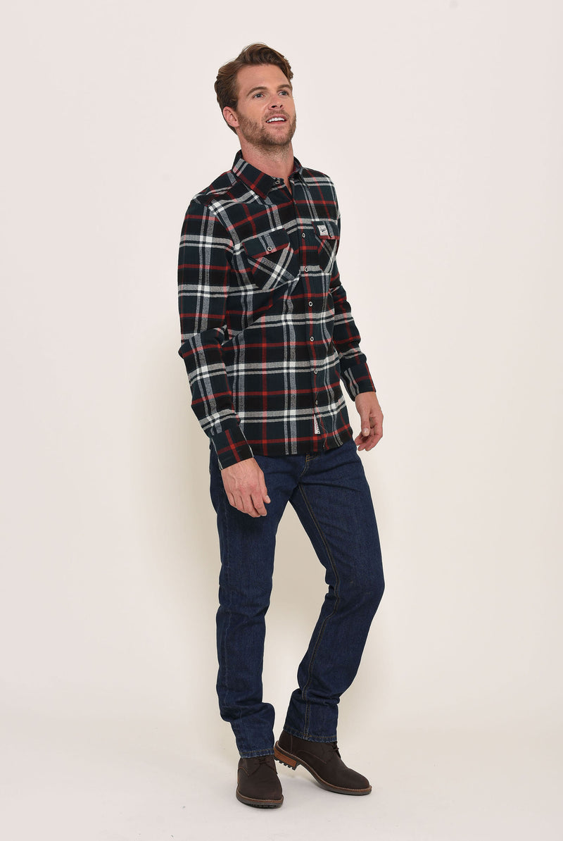 Flannel Check Shirt Green