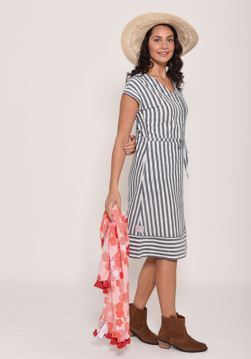 Woven Stripe Dress