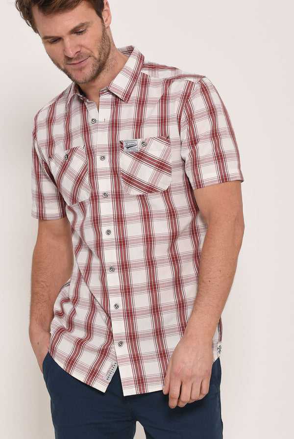 Short Sleeve Shirt Red Check