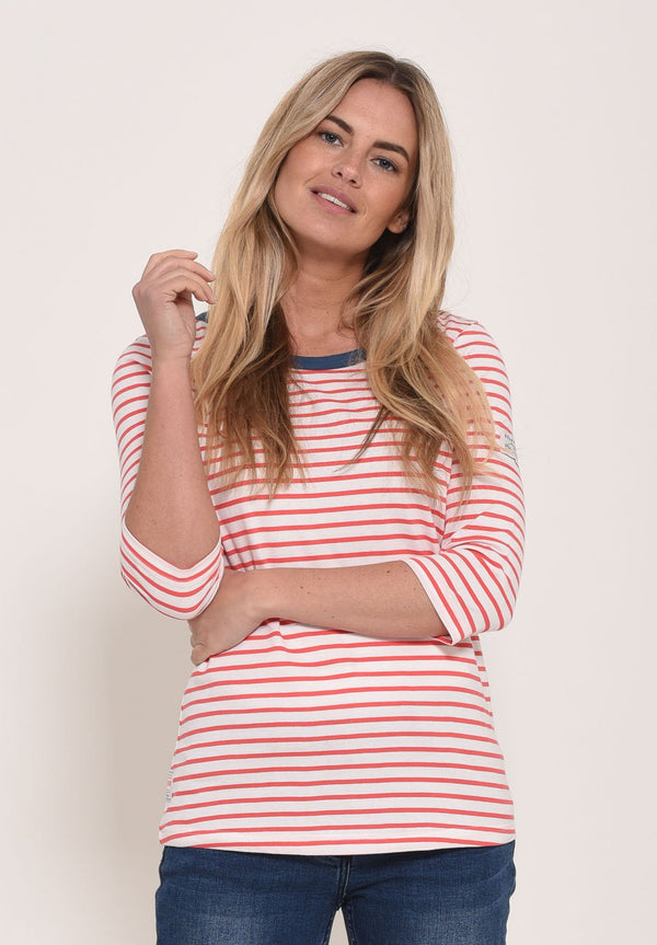 3/4 Sleeve Stripe T-Shirt