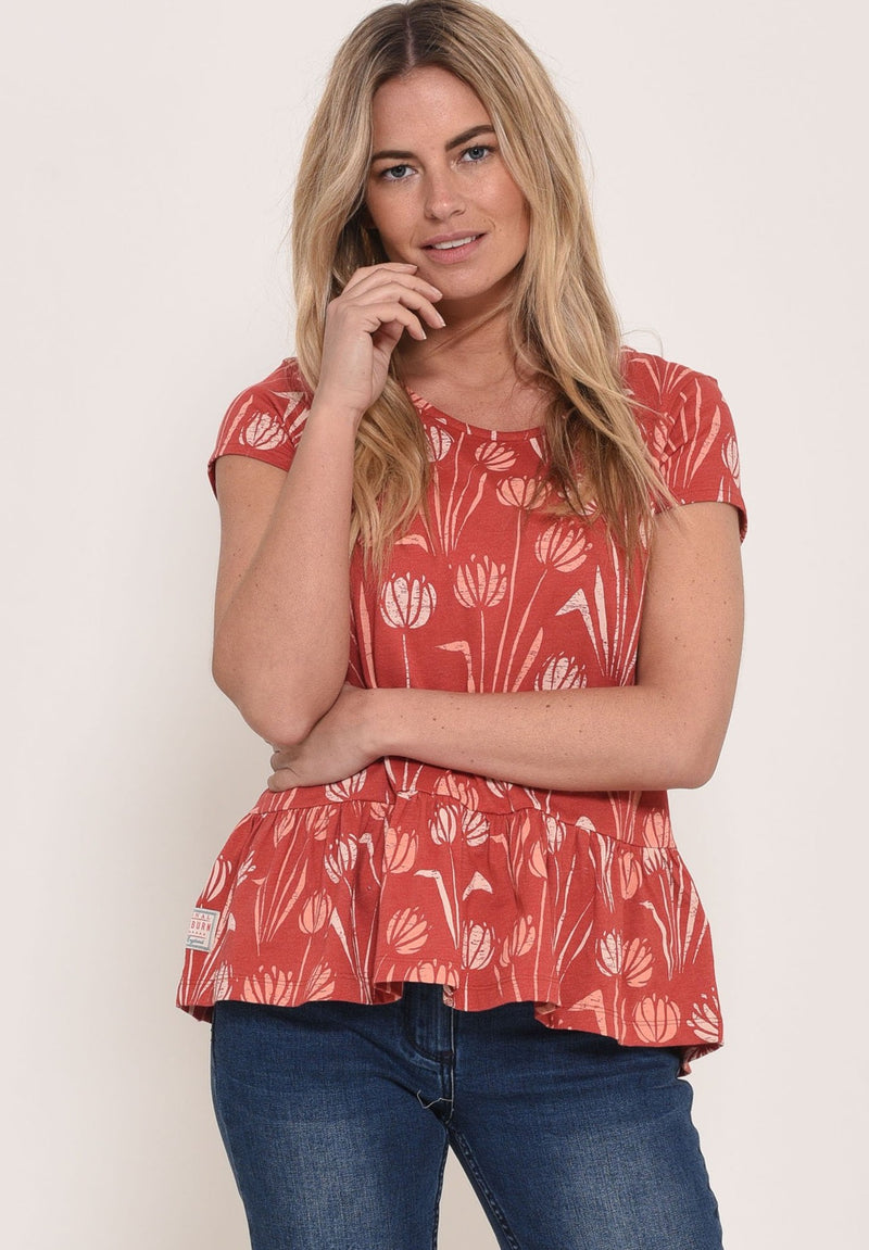 Water Reed Blouse Red
