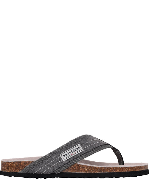 Canvas Flip Flop Grey