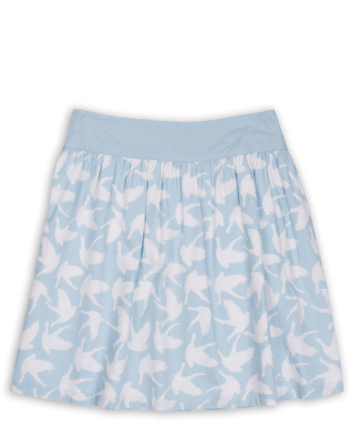 Birds Skirt Blue