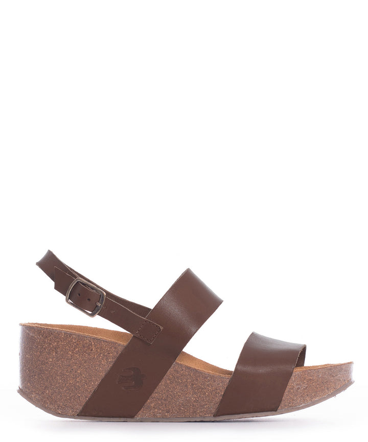 Leather Mid Wedge