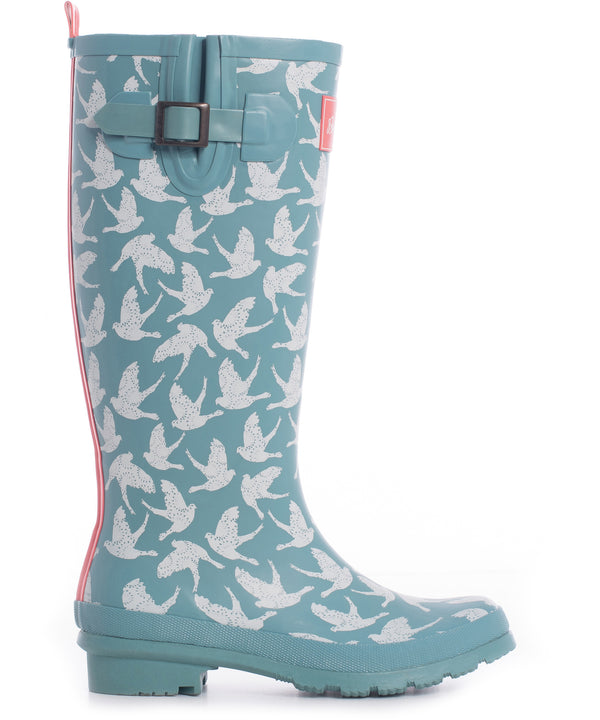 Birds Welly Teal
