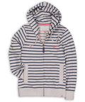 Yarn Dyed Stripe Hoody Navy & Ecru