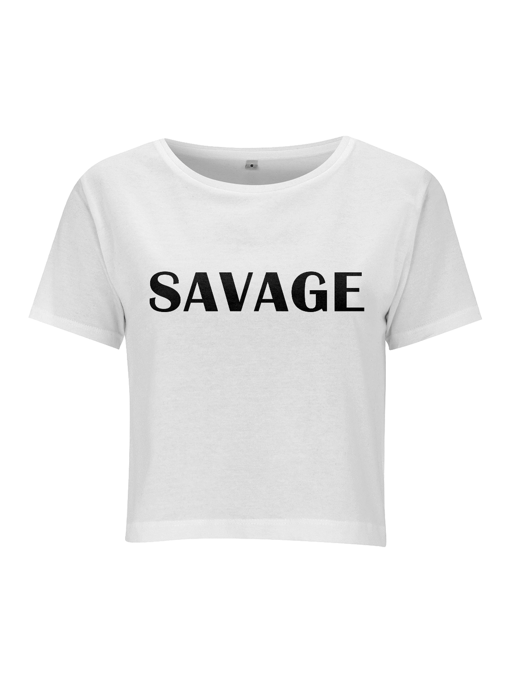 SAVAGE crop top in white