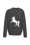 UNICORN christmas jumper in black