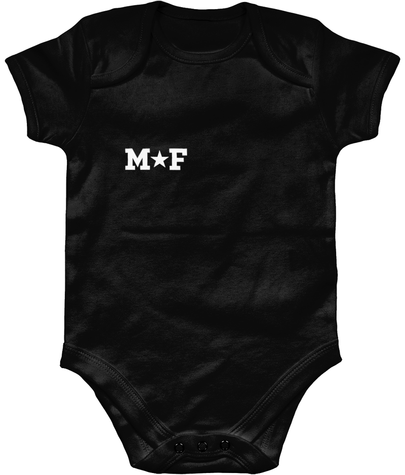 Personalised baby bodysuit with star detail