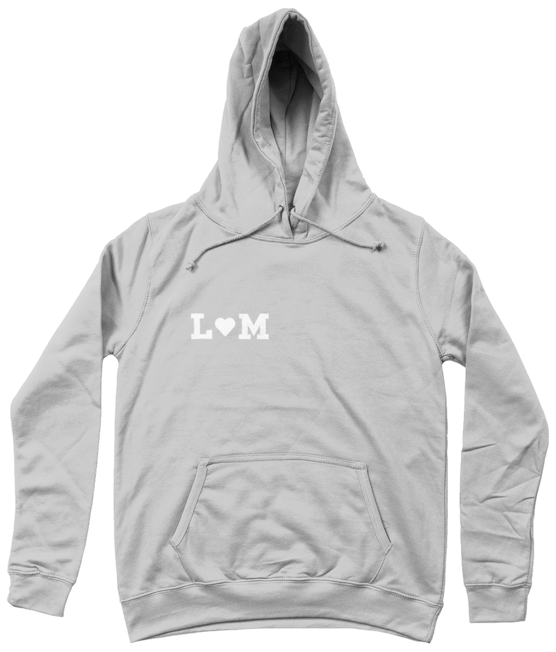 Personalised hoodie with heart detail