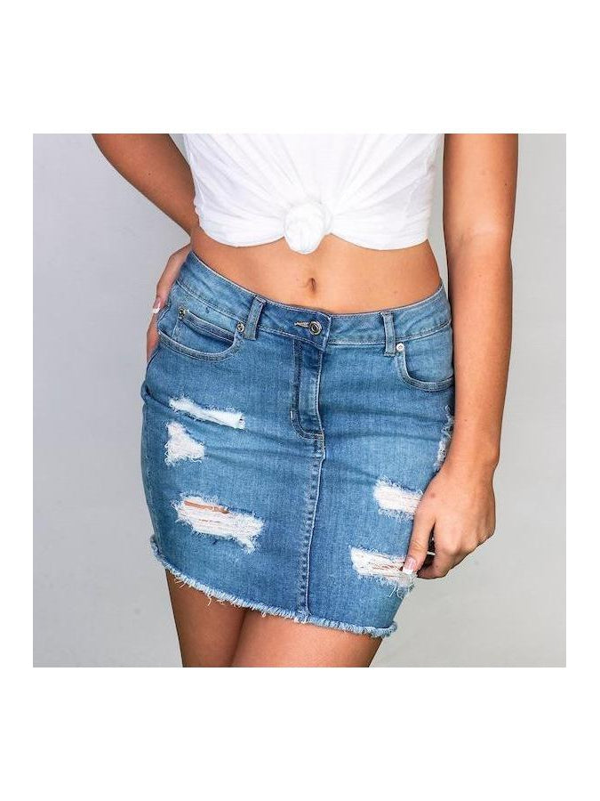 The TAYLOR denim skirt