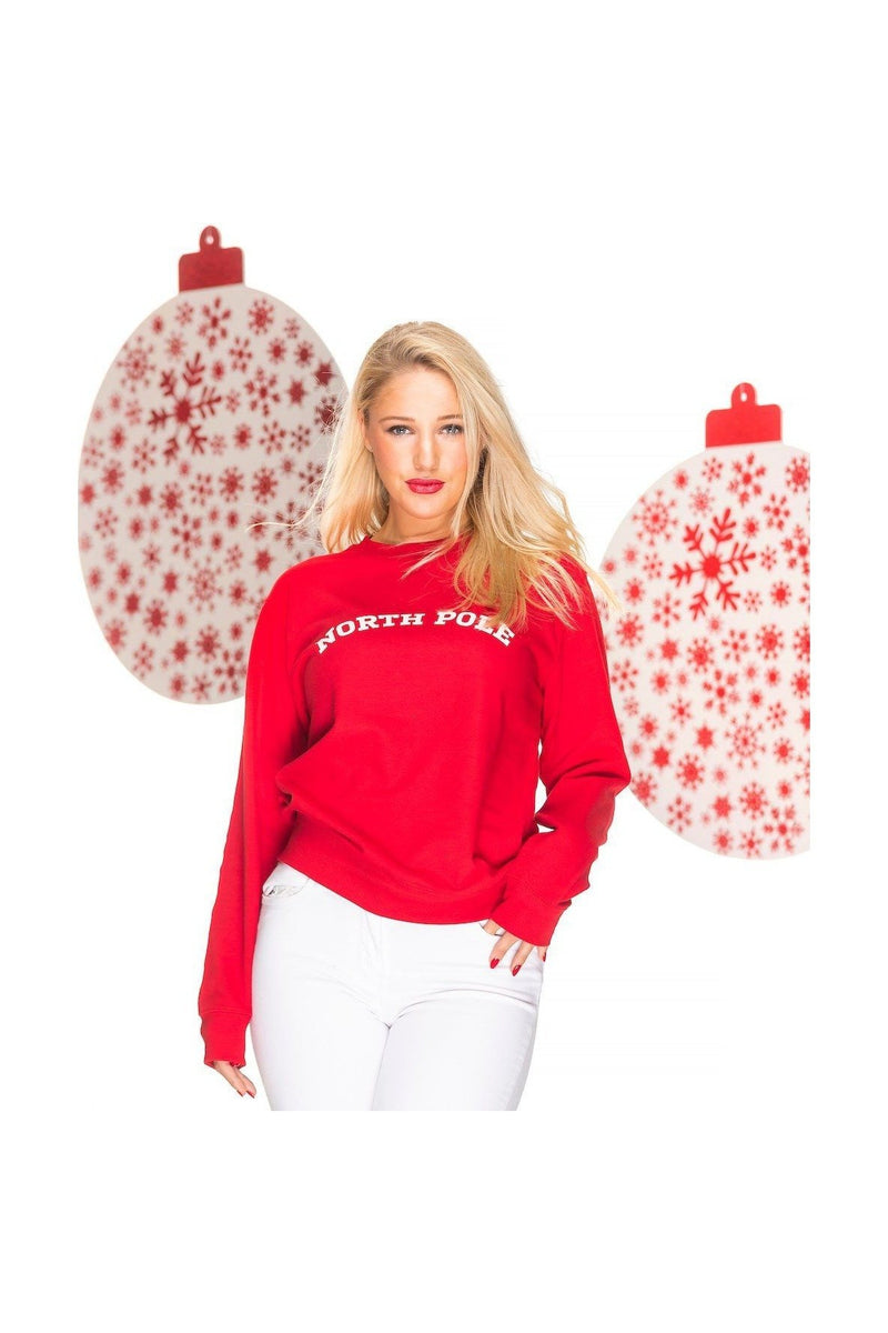 NORTH POLE Christmas Sweatshirt