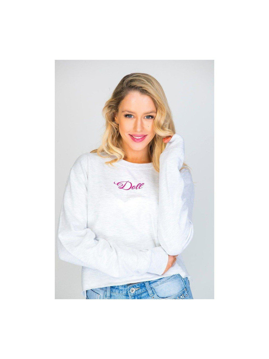DOLL cropped sweatshirt