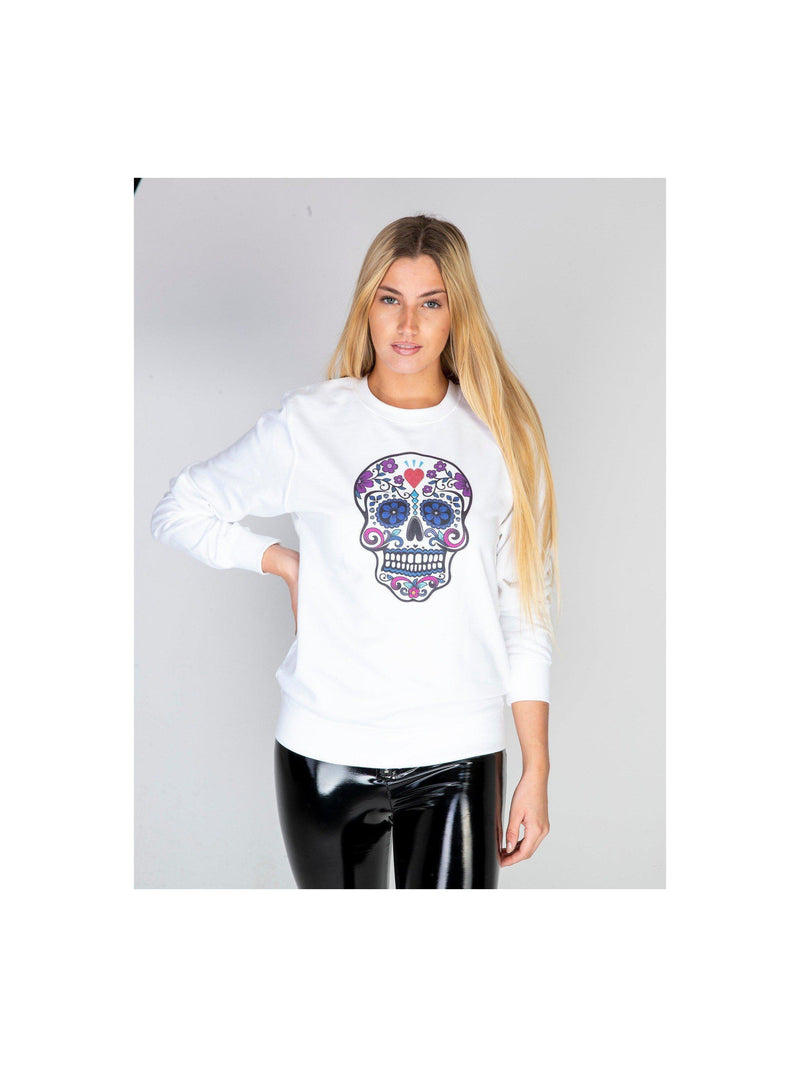 SKULL sweatshirt in white