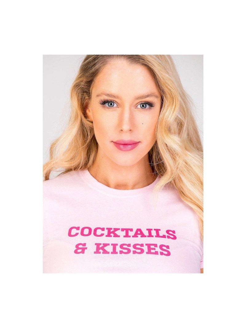 COCKTAILS & KISSES t shirt