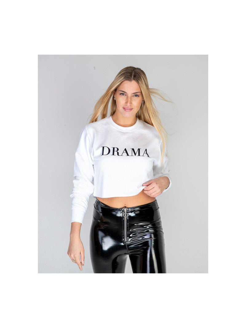 DRAMA cropped sweatshirt