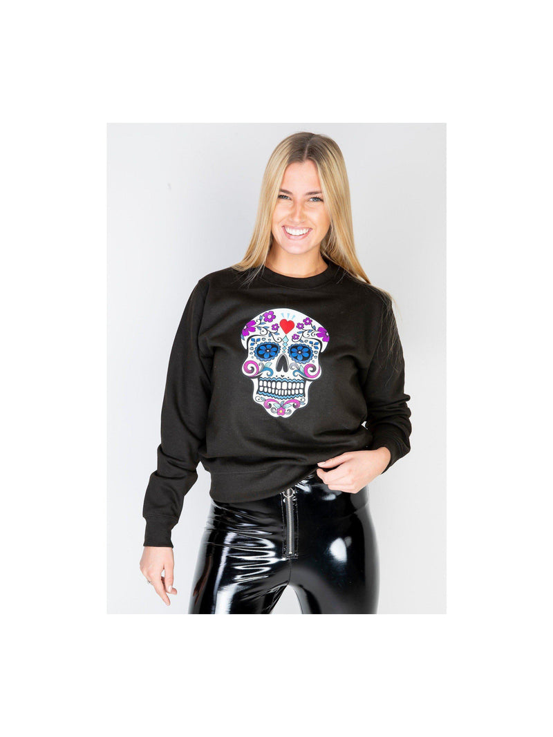 SKULL sweatshirt in black