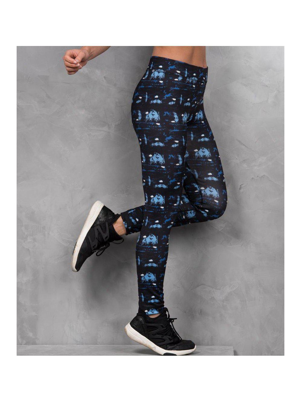 Abstract Blue gym leggings