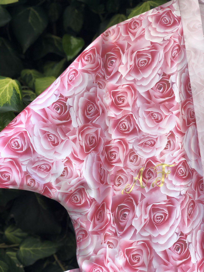 Pink Roses Personalised Satin Robe