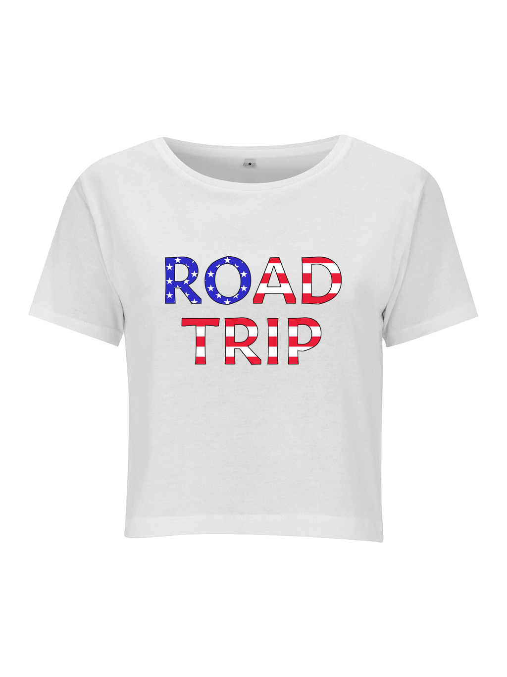 ROAD TRIP crop top