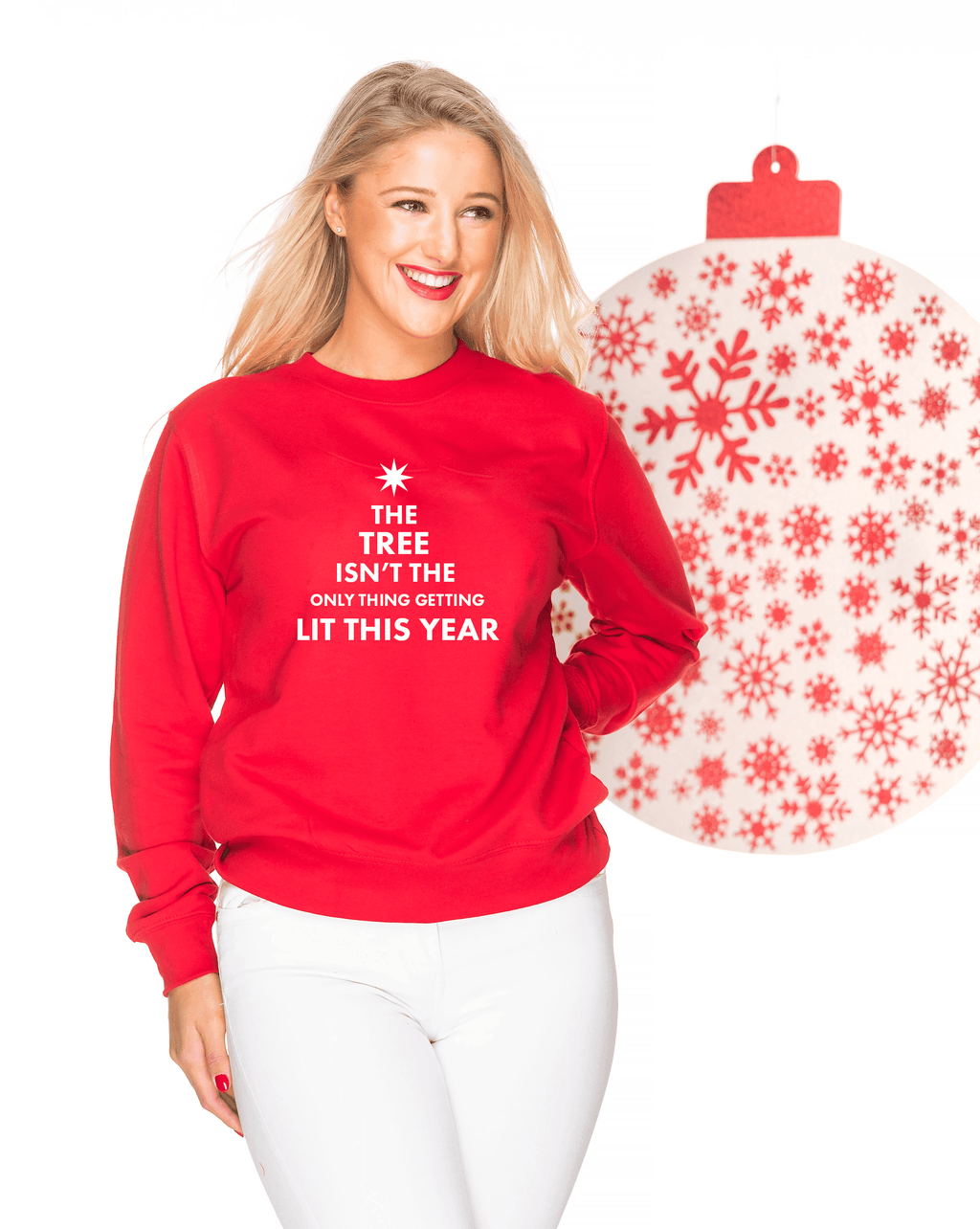 GET LIT Christmas jumper