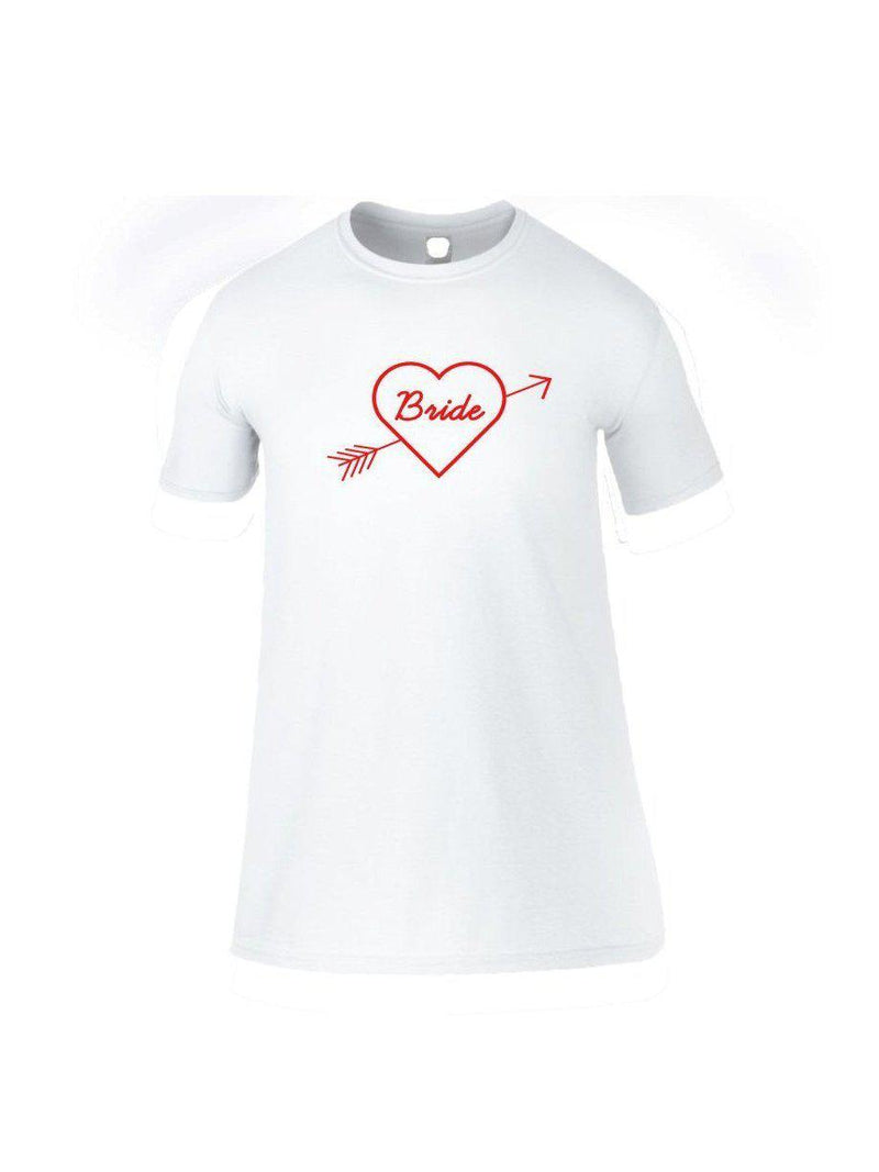 BRIDE sleep tee with heart and arrow