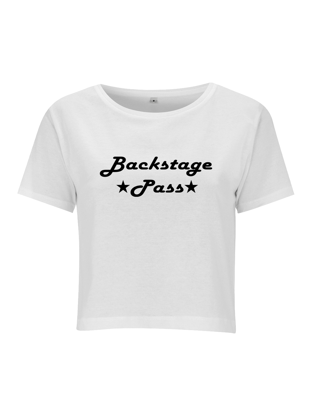 BACKSTAGE PASS crop top