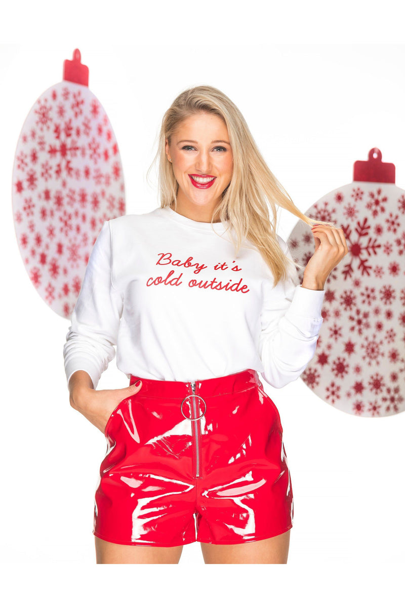 BABY IT'S COLD OUTSIDE Christmas Sweatshirt