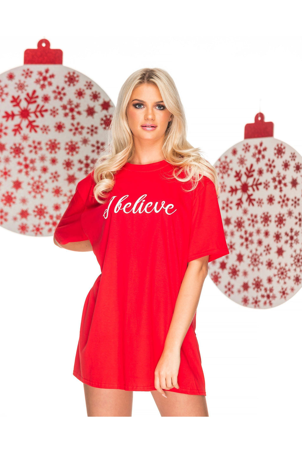 I BELIEVE Christmas Sleep Tee Pyjamas