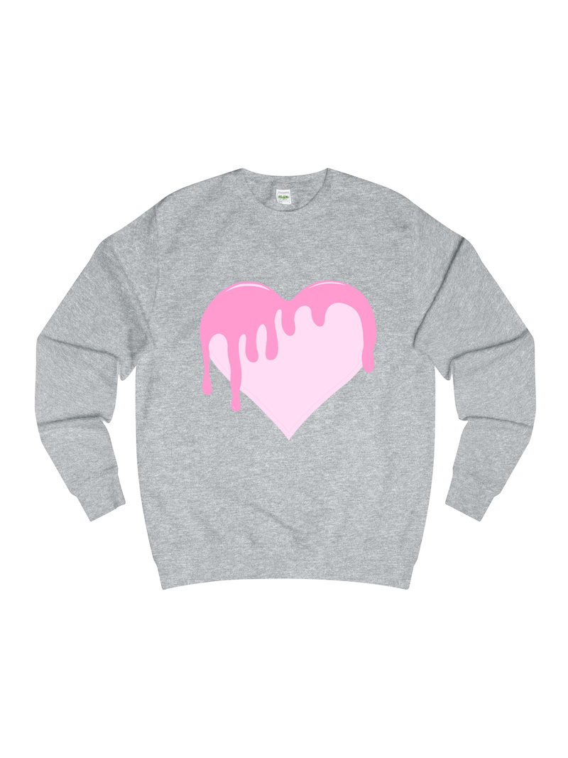 BLEEDING LOVE sweatshirt in grey