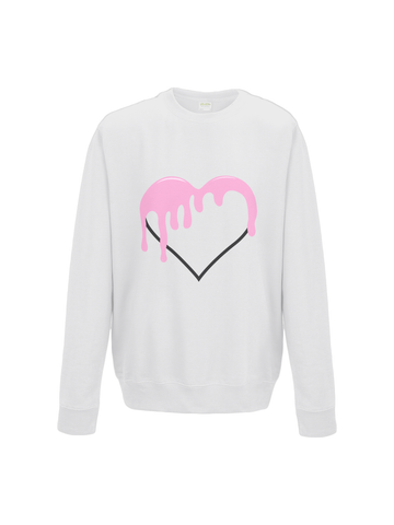 BLEEDING LOVE sweatshirt in white