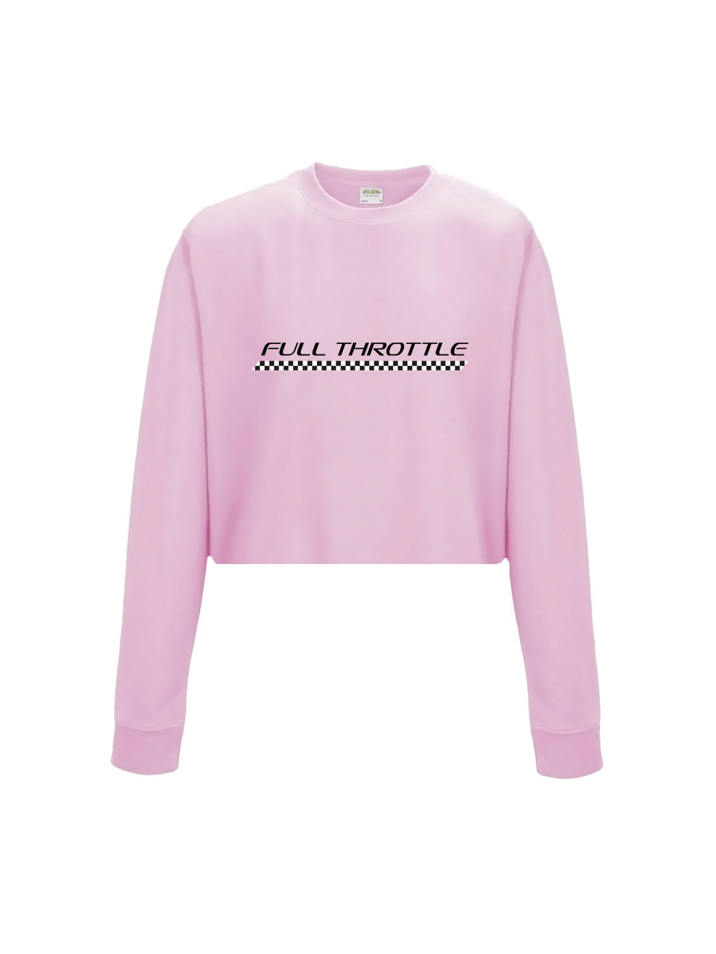 FULL THROTTLE cropped sweatshirt in pink