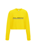 FULL THROTTLE cropped sweatshirt in yellow
