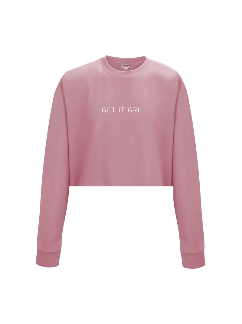 GET IT GRL cropped sweatshirt