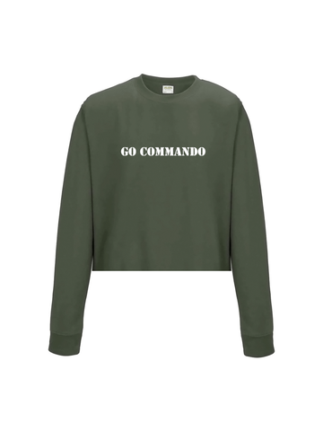 GO COMMANDO cropped sweatshirt