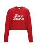HEART BREAKER cropped sweatshirt