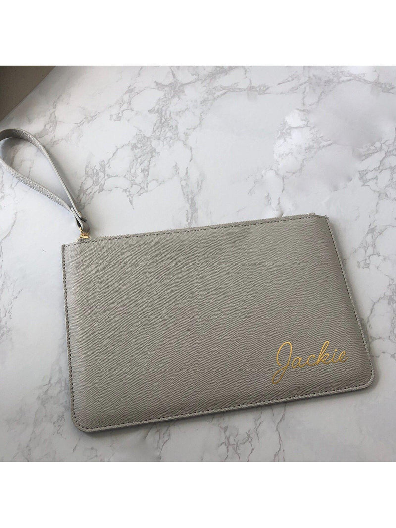 Personalised leatherette bag with gold foil