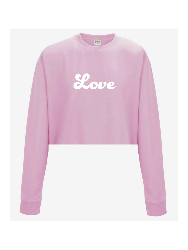 LOVE cropped sweatshirt