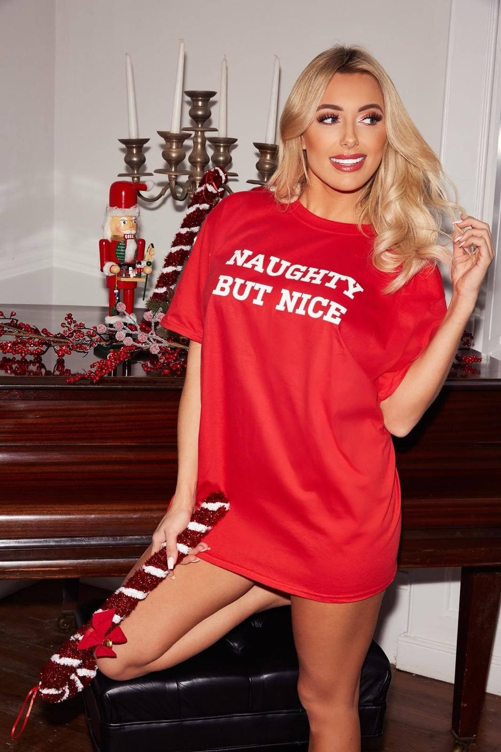 NAUGHTY BUT NICE Christmas Sleep Tee Pyjamas