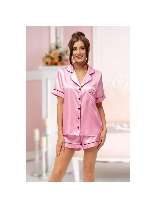 Satin Personalised Pyjamas with contrast piping