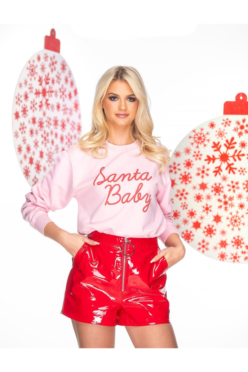 Santa Baby Christmas Sweat in white