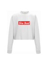 SHE BAD cropped sweatshirt