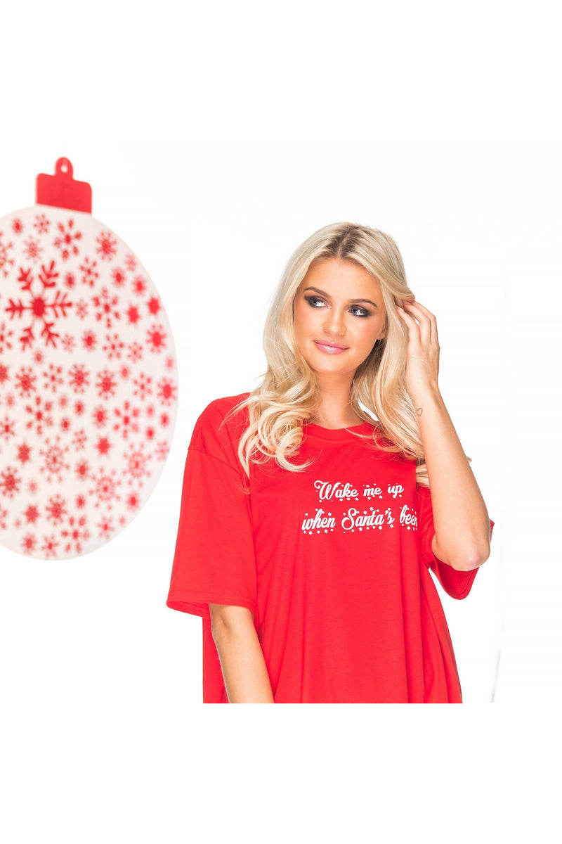 WAKE ME UP Christmas Sleep Tee