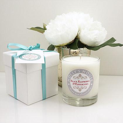 Black Raspberry & Peppercorn Luxury Scented Candle