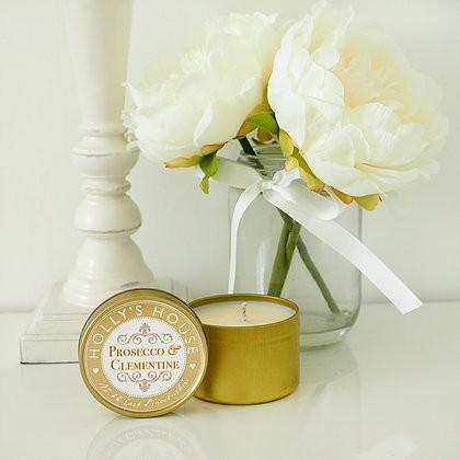 Prosecco & Clementine 100ml Candle Tin